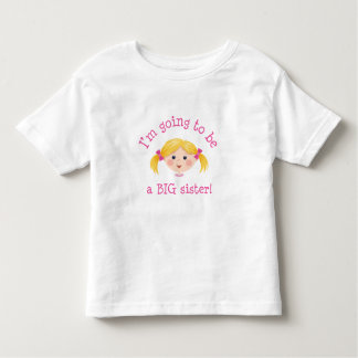 Im going to be a big sister - blond hair tshirts