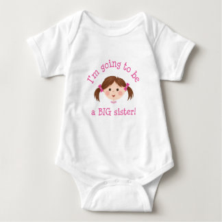 Im going to be a big sister - girl with brown hair t-shirt