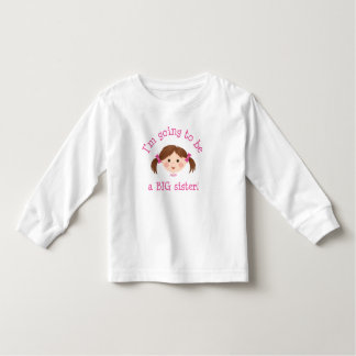 Im going to be a big sister - girl with brown hair toddler t-shirt