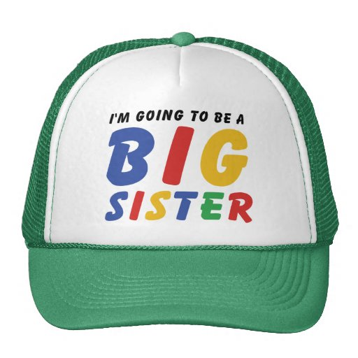 I'm Going To Be A Big Sister Hats