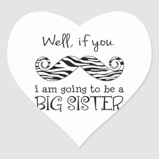 I'm Going to be a Big Sister Heart Sticker