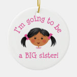 Im going to be a big sister ornament - black girl