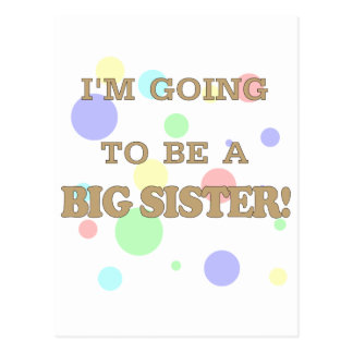I'M GOING TO BE A BIG SISTER.png Postcard