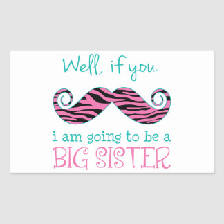 I'm Going to be a Big Sister Rectangular Sticker