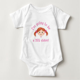 Im going to be a big sister - red hair infant creeper