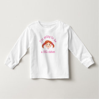 Im going to be a big sister - red hair tee shirt