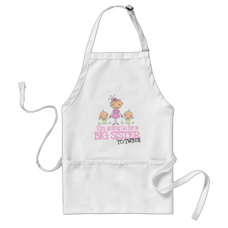 I'm Going to Be a Big Sister to TWINS Apron