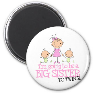 I'm Going to Be a Big Sister to TWINS Magnet