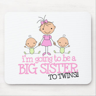 I'm Going to Be a Big Sister to TWINS Mouse Pad