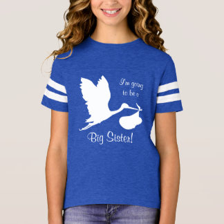 I'm Going To Be A Big Sister White Stork T-Shirt