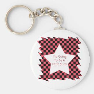 I'm Going To Be A Little Sister Basic Round Button Keychain