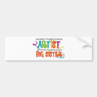 I'm Going to be an Artist Big Sister Tshirt Car Bumper Sticker