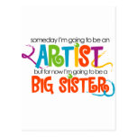 I'm Going to be an Artist Big Sister Tshirt Post Cards