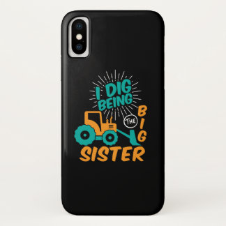 I'm Going To Be Big Sister Tractor Cartoon iPhone XS Case