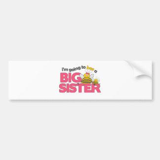 I'm Going to Bee a Big Sister T-shirt Car Bumper Sticker