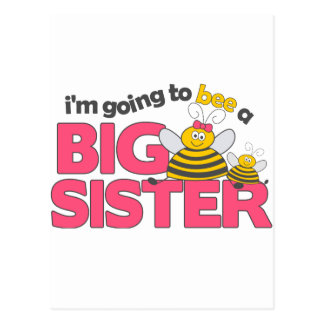 I'm Going to Bee a Big Sister T-shirt Postcard