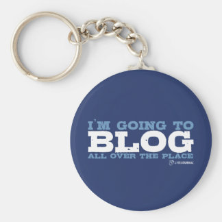 I'm going to blog all over the place (LiveJournal) Basic Round Button Keychain