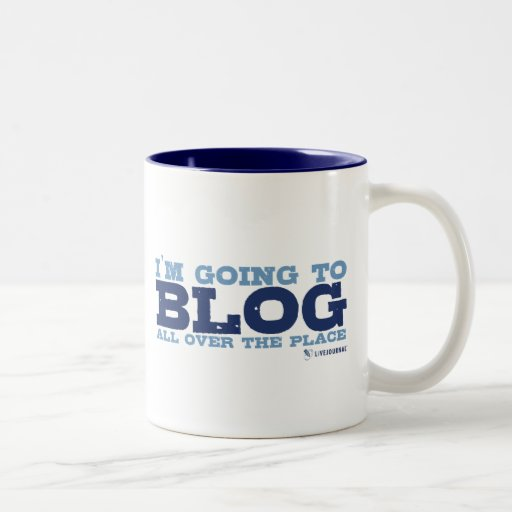 I'm going to blog all over the place (LiveJournal) Two-Tone Coffee Mug