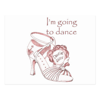 I'm going to dance postcard