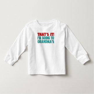 I'm Going To Grandma's Toddler T-shirt