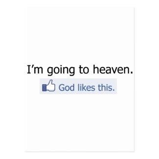 I'm going to heaven postcard
