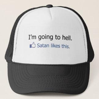 I'm going to hell Facebook status design Trucker Hat