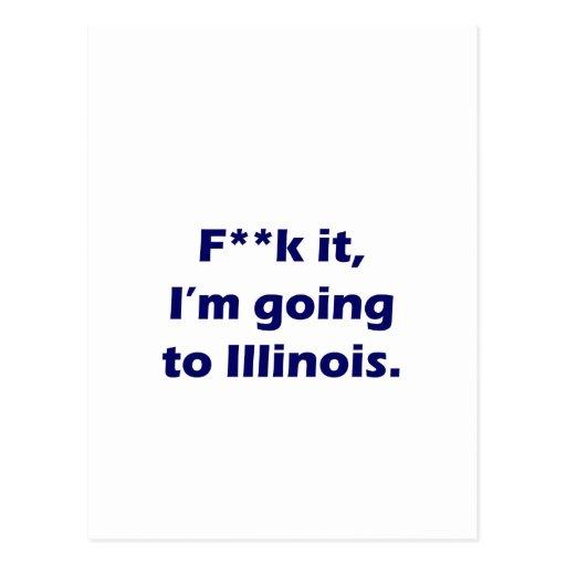 I'm going to Illinois Postcard