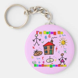 I'm Going to Kindergarten Basic Round Button Keychain