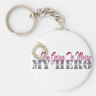 im going to marry my hero basic round button keychain