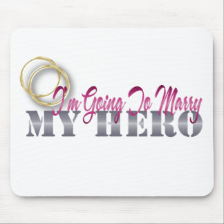 im going to marry my hero mouse pad