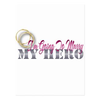 im going to marry my hero postcard