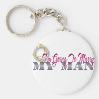 im going to marry my man basic round button keychain