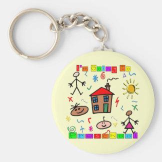 I'm Going to Preschool Basic Round Button Keychain