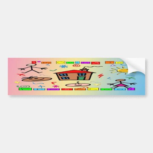 I'm Going to Preschool Bumper Sticker