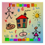 I'm Going to Preschool Poster