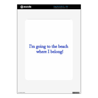I'm Going To The Beach Decals For The iPad