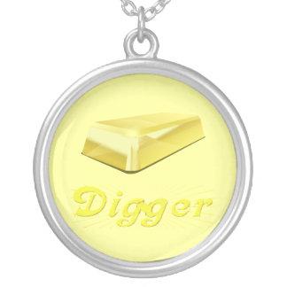 I'm Golden Round Pendant Necklace