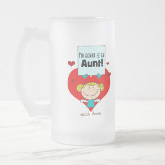 I'm Gonna Be An Aunt Gift Frosted Glass Beer Mug