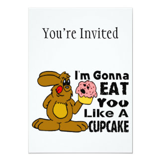 I'm Gonna Eat You Like A Cupcake Custom Invitation