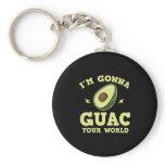 I'm Gonna Guac Your World Funny Guacamole Avocado Keychain