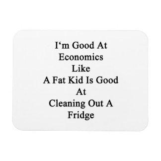 I'm Good At Economics Like A Fat Kid Is Good At Cl Rectangular Photo Magnet