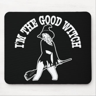 Im Good Witch Black Mouse Pad
