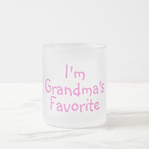 Im Grandmas Favorite Pink 10 Oz Frosted Glass Coffee Mug