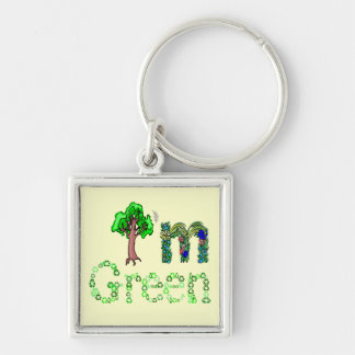 I'm Green Going Green Tree Recycle Symbols Keychain