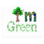 I'm Green Going Green Tree Recycle Symbols Postcard