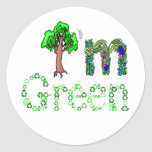 I'm Green Going Green Tree Recycle Symbols Classic Round Sticker
