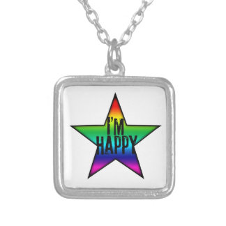 I'm Happy - Gay and Lesbian Rainbow Star Necklace
