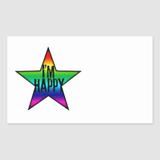 I'm Happy Gay Star Rainbow Sticker
