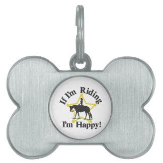 Im Happy Pet Name Tag