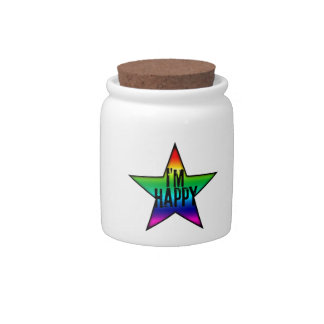 I'm Happy Rainbow Star and Gay Candy Jars